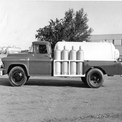 Dunlap Propane Truck, circa 1956