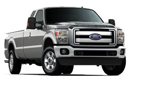 Ford F-250 truck with ROUSH CleanTech propane fuel system